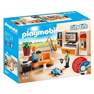 Playmobil 9267 City Life Living Room with Working Lights - Building Kit