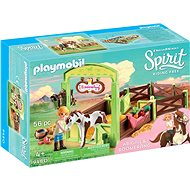 Playmobil 9480 Abigail & Boomerang with Horse Stall - Building Kit