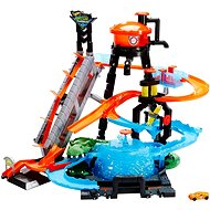 Hot Wheels City Ultimate Automobile with alligator - Slot Car Track