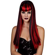 Red-Black Wig - Long Hair - Wig