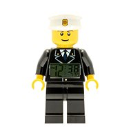 LEGO City Policeman - clock with an alarm - Children's Clock