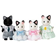Sylvanian Families Tuxedo Cat Family - Game Set