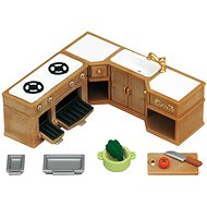Sylvanian Families Kitchen Stove, Sink & Counter Set - Game Set