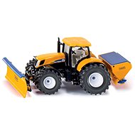 Siku Super Tractor with Snow Blade and Salt Gritter - Metal Model