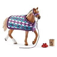 Schleich 42360 English thoroughbred with blanket - Figure Set