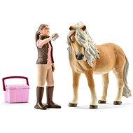 Schleich Groom with Icelandic pony mare - Figure Set