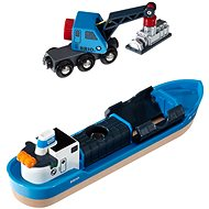 Brio World 33534 Cargo Ship and Crane - Rail Set Accessory