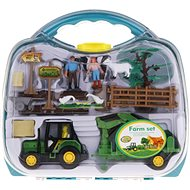 Farm Set in a Case - Tractor with a Loading Arm - Figure Set