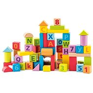 Woody Blocks with letters and numbers - Building Kit