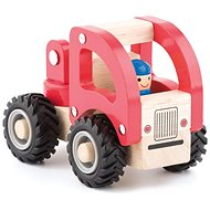 Woody Wooden Car - Fire Engine - Toy Vehicle