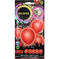 LED balloons - red 4 pcs - Game set