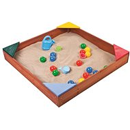Paradiso wooden sandpit with plastic corners - Sandpit