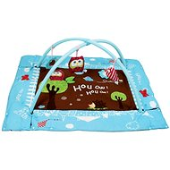 Ludi Play Mat with inflatable sides and arch Owl blue - Play Pad
