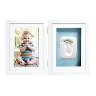 Pearhead Double Frame for Foot and Hand Imprint, White - Photo Frame
