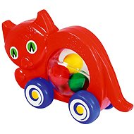 Cat on Wheels with Balls - Push and Pull Toy
