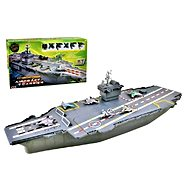 Model Aircraft Carrier with Sound and Lights - Plastic Model