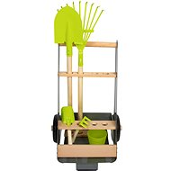 Small Foot Garden Cart with 5 Tools - Wooden tools