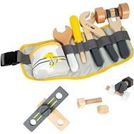 Small Foot Belt with Adjustable Strap and Miniwob Tools - Wooden tools