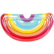 Inflatable Rainbow Blow-up Mattress, 172 x 89 x 32cm - Inflatable Toy