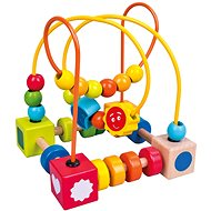 Bino Colourful Labyrinth with Beads - Educational Toy