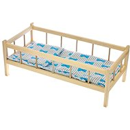 Wooden Cot with Blankets - Children's furniture