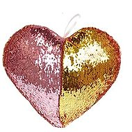 Heart-shaped with Pink Sequins - Pillow