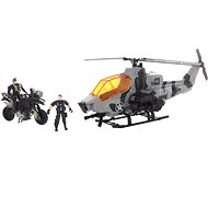Military Helicopter and Motorbike