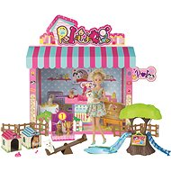 Doll with canine salon - playing kit
