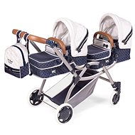DeCuevas 80337 Folding Stroller for Twin Dolls 3-in-1 with TOP Collection 2020 Backpack - Doll Stroller