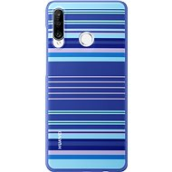 Huawei Original Colorful TPU Blue Lines Case for P30 Lite