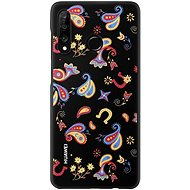 Huawei Original Colorful TPU Flower Black Case for P30 Lite - Mobile Case