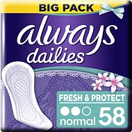 ALWAYS Fresh & Protect Normal Fresh Liners 58 pcs - Panty liners