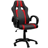 HAWAJ red/black with stripes - Office Armchair