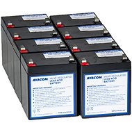 AVACOM replacement for RBC43 - UPS battery (8pcs) - Battery Kit