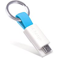 inCharge Micro USB Cyan, 0.08m - Data cable