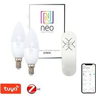 Immax Neo LED E14/230V C37 5W 2pcs + remote control - LED Bulb