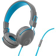 JLAB Studio Wired On Ear Headphones, Grey/Blue - Headphones