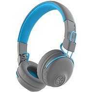 JLAB Studio Wireless On Ear Headphones, Grey/Blue - Wireless Headphones