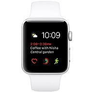 Apple Watch Series 1 38mm Silver Aluminium Case with White Sport Band - Smartwatch