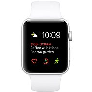 Apple Watch Series 1 42mm Silver Aluminium Case with White Sport Band - Smartwatch
