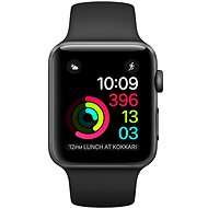 Apple Watch Series 1 42mm Space Grey Aluminium with Black Sport Band - Smartwatch