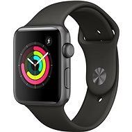 Apple Watch Series 3 GPS 42mm Space Gray Aluminum Case with Gray Sport Band - Smartwatch