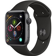 Apple Watch Series 4, 44mm Space Black Aluminium with Black Sports Strap - Smartwatch