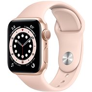 Apple Watch Series 6 44mm Gold Aluminium with Pink Sand Sports Strap - Smartwatch