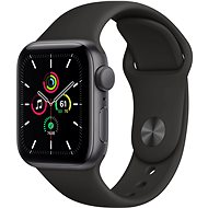 Apple Watch SE 44mm Space Black Aluminium with Black Sports Strap - Smartwatch