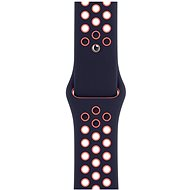 Apple Watch 40mm Blue-Black / Bright Mango Sports Strap Nike - Standard - Watch band