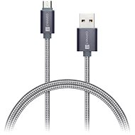 CONNECT IT Wirez Premium Metallic micro USB 1m silver grey