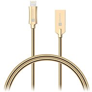 CONNECT IT Wirez Steel Knight Lightning Apple 1m, metallic gold