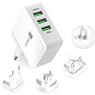 CONNECT IT Nomad2 WorldTravel white - Charger