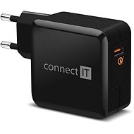CONNECT IT InWallz QUALCOMM QUICK CHARGE 3.0 black - Charger